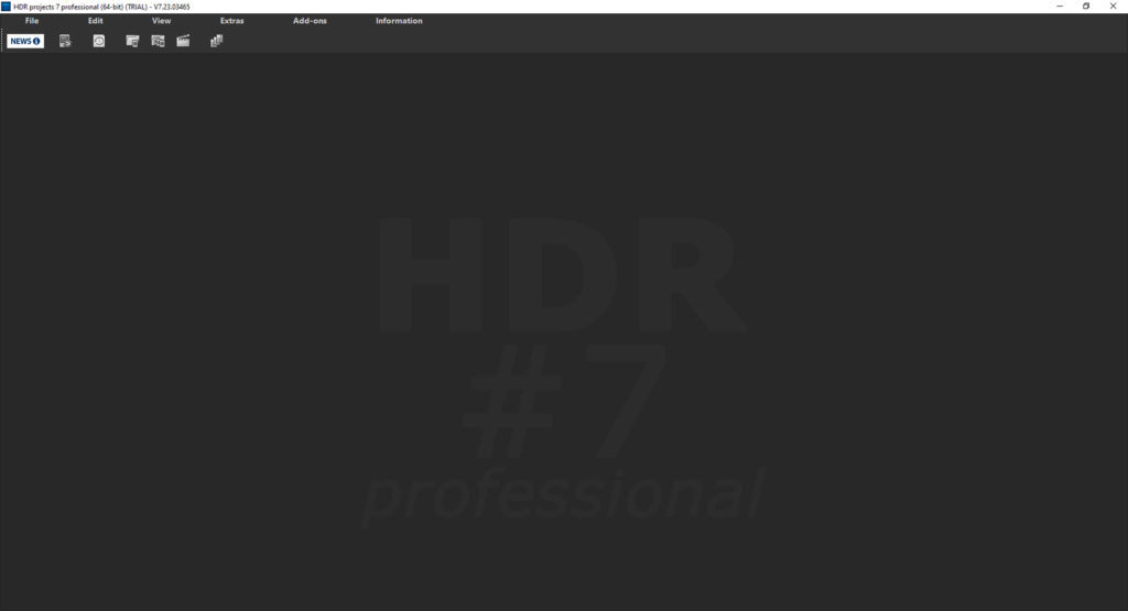 HDR Projects 7 review – basic layout